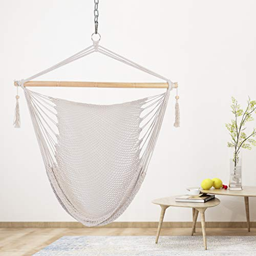16 Attractive Window Seat Designs For Pleasant Relaxation: Patio Watcher Hammock Chair Hanging Rope Swing Seat With 2
