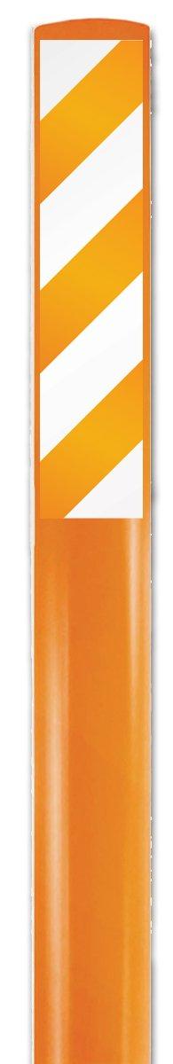 "Accuform FMK611ORORWT Flexible Marker Stake, Legend""(Blank)"", 66"" L x 3 3/4"" W, Orange/White on Orange"
