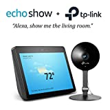 Echo Show (2nd Gen) - Charcoal with Smart Home Security Camera by TP-Link