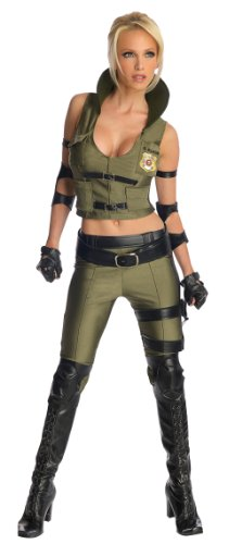 Secret Wishes Mortal Kombat Sonya Blade, Multicolor, Small - Sexy Mortal Kombat Costumes