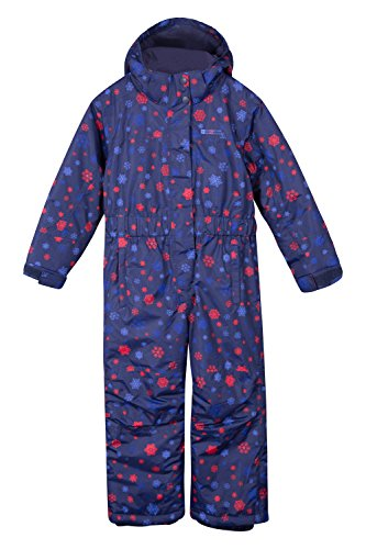 Mountain Warehouse Cloud Printed Kids All in One Snowsuit - Waterproof Navy 2-3 - Warehouse Suit