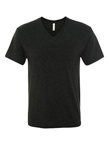 Blend Mens T-shirt - Next Level 6040 Men's Tri-Blend V - X-Large - Vintage Black