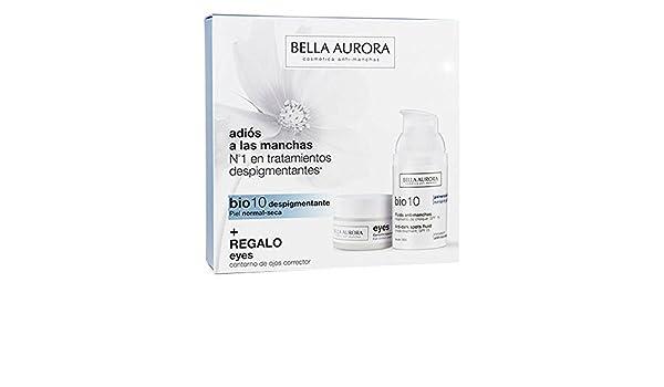 Bella Aurora Set De Bio 10 Serum Anti-Manchas y Eyes Contorno de Ojos Corrector Para Piel Normal-Seca: Amazon.es