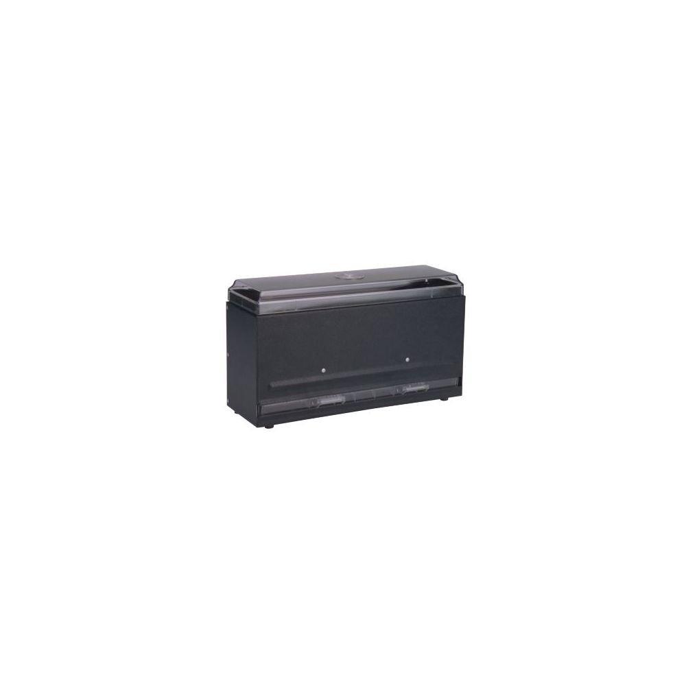 Traex 3821-06 Black Super Straw Boss 1-Sided Bulk Straw Dispenser