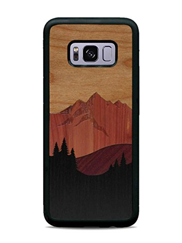 Galaxy S8 Plus Mount Bierstadt Inlay Wood Traveler Case by Carved, Unique Real Wooden Phone Cover (Rubber Bumper, Fits Samsung Galaxy S8 ()