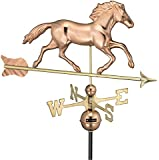 Good Directions 952P Large Smithsonian Running Horse with Arrow Weathervane, Polished Copper