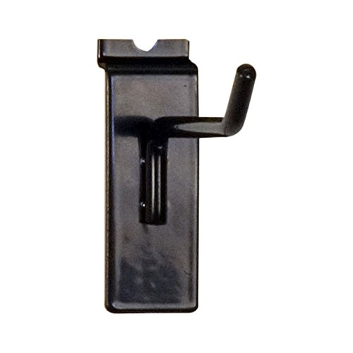 4 Long Black Pack of 100 KC Store Fixtures A01838 Slatwall Hook 1//4 Wire