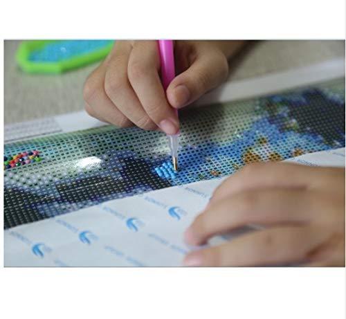 BBINGK Diamantmalerei Digitale Sets Malere Runder Bohrer Diamant Stickerei Kreuzstich Kits Kunst Und Handwerk Mosaik Muster Tier Hunde Bild Kinder Geschenk,20 Basteln, Malen & Nähen 30CM