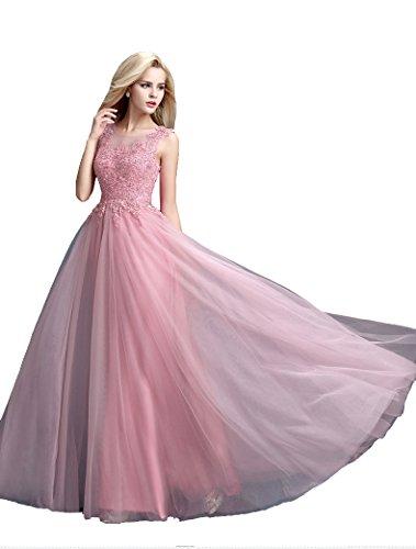 emily Beauty Da Nero Lace Through Lungo See Senza Sera Perla Maniche Abito up ZUUnq4d