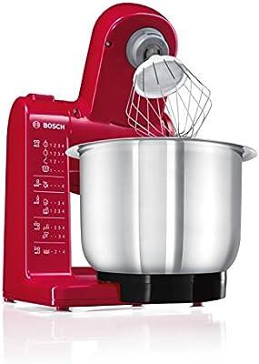 Bosch MUM44R1 - Robot de cocina, 500 W, capacidad 3,9 l, color rojo: Amazon.es: Hogar