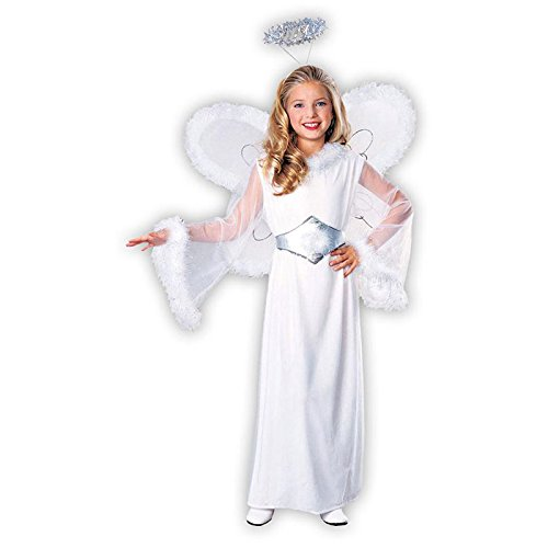 Feathered Fashions Child's Snow Angel Costume, Medium -
