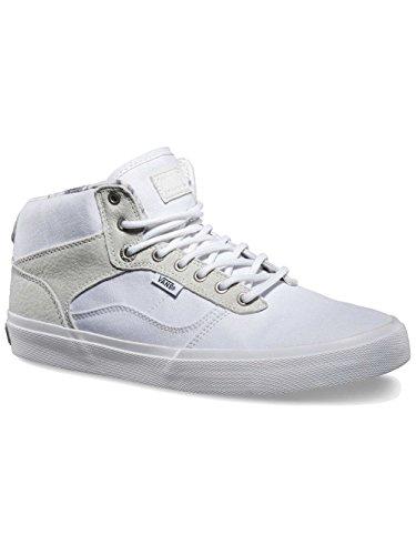 Vans Men's Bedford Marble Star White Mid Skateboard Shoes ()