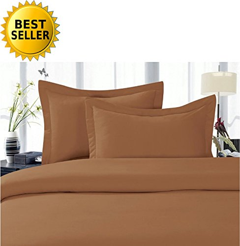 CELINE LINEN Best, Softest, Coziest Duvet Cover Ever! 1500 Thread Count Egyptian Quality Luxury Super Soft Wrinkle Free 2-Piece Duvet Cover Set, Twin/Twin XL, Mocha Chocolate
