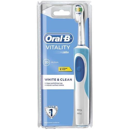 Braun Oral-B Vitality White - Cepillo de dientes eléctrico de rotación, color blanco: Amazon.es: Salud y cuidado personal