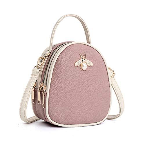 Luxury Crossbody Handbag Nafanio For Hot Bags pink Leather Shoulder Women HXvHRq47d