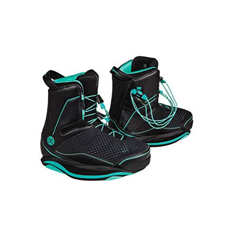 Ronix Women's Wakeboard Bindings Signature Boot - Black/Ozone Blue (2019)