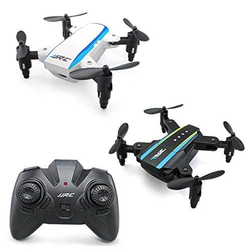 ToyPark Mini Quadcopter, H345 Mini Dual-Aircraft Combination Micro Foldable RC Drone Quadcopter with 2 Set Jjrci White & Jjrcii Black