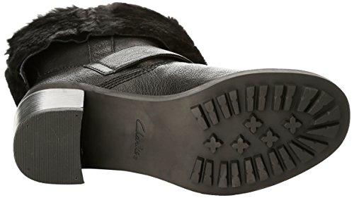 Clarks Pilico Place - Botas de motociclista de cuero mujer Negro (Black Leather)