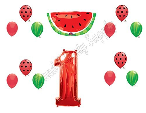 WATERMELON First 1st Birthday Party Balloons Decoration Supplies Tutti Fruiti by Party Supply