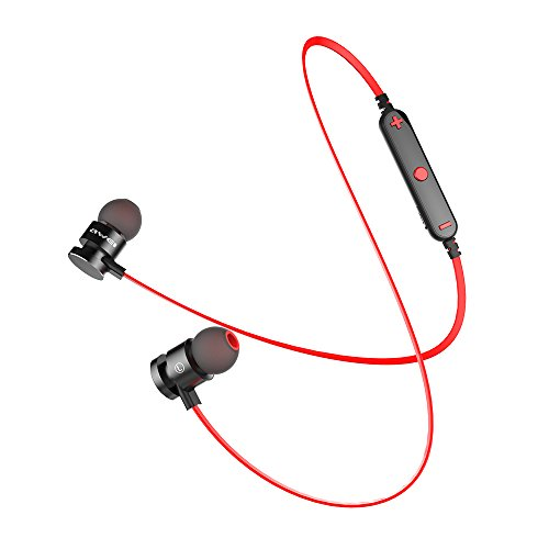 AWEI 2017 Newest T11 Magnet Wireless Headphone Bluetooth Earphones For Phone Bluetooth V4.2 With Microphone designed for sport --Red