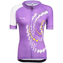 beroy Beory Womens Cycling Jerseys with Short Sleeves,Girls Bike Short Sleeves with Three Pockets