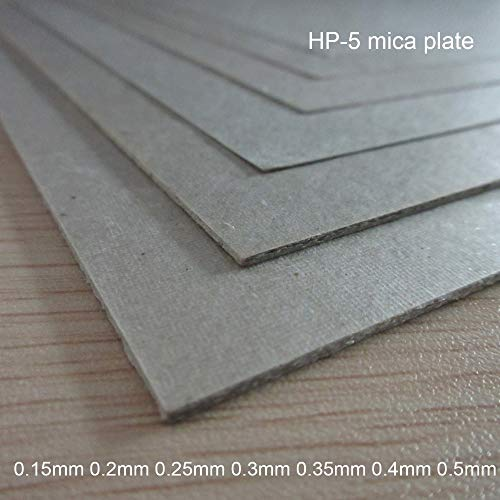 Gimax 0.15mm 0.2mm 0.25mm 0.3mm 0.35mm 0.4mm 0.5mm HP-5 micarex Heat-Resisting micanite mica Plate Mica Sheet Thermal Baffle insulat - (Size: 0.25x200x300mm)