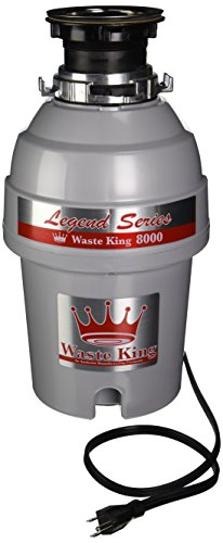 : Waste King Legend Series 1 HP Continuous Feed Garbage Disposal with Power Cord - (L-8000)