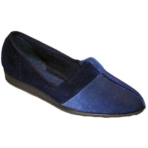 Comfylux Jessie/Ladies Slippers/Classic Ladies Slippers Blueberry