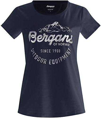 Bergans Classic T-Shirt damski Grey Melange/White 2019 koszulka z krÓtkim rękawem: Odzież
