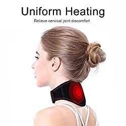 Neck Shiatsu Heating Massager, Electric Heater Infrared Vibration Magnet Hot Compress Massage Cervical Vertebra Spine Belt Cervical Collar,3 levels Temperature, Lightweight for Home Office Car