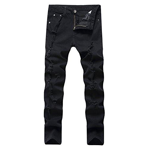 a5fc0a2af1dff best DAVID.ANN Men's Hipster Ripped Skinny Biker Jeans - malo-selo.hr