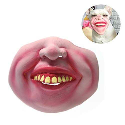 (AXAYINC Dog Masks, Pet Entertainment Spoofs, Super Cute Masks Designed for Pets to Prevent Bites and Eat Unclean Food. (Laugh) )