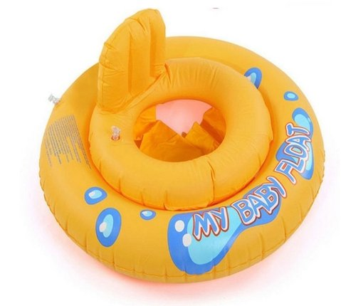 [Bath Sets , Safety Kids Inflatable baby Seat ,Infant Pool Float Swimming Toy With Safe Handle (Yellow)] (Yellow Zoot Suit)