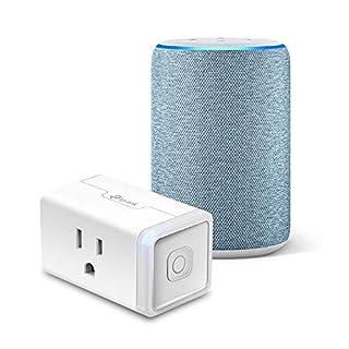 Echo (3rd Gen) Twilight Blue Bundle with TP-Link simple set up smart plug