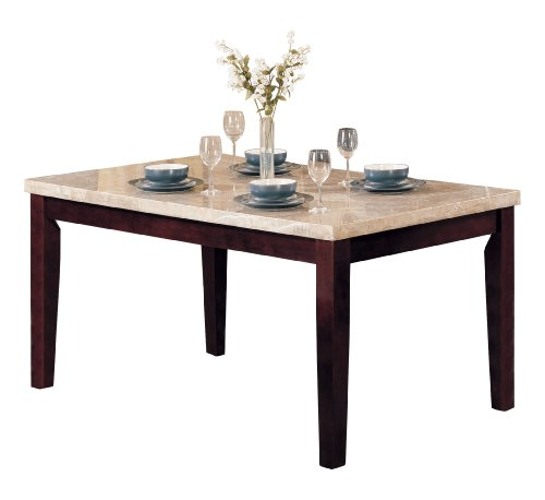 ACME 17058 Marble Top Dining Table, Espresso ()