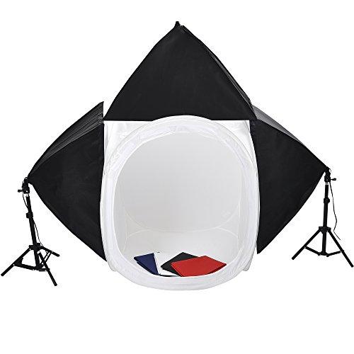 "Studio Lighting Reviews: Photo Studio 32"" Light Tent Softbox Lighting Kit Backdrops"