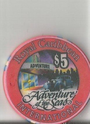 $5 royal caribbean adventure of the seas casino chip cruise line ()