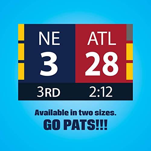 New England Patriots Super Bowl Comeback Scoreboard Sticker (8 x 5 inches)