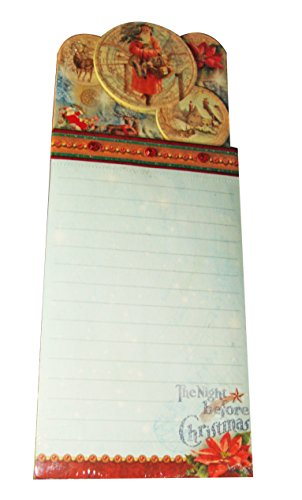 Punch Studio Paper Note Pad 75 Sheets Jeweled Santa Ornament Magnetic Back 66568 9