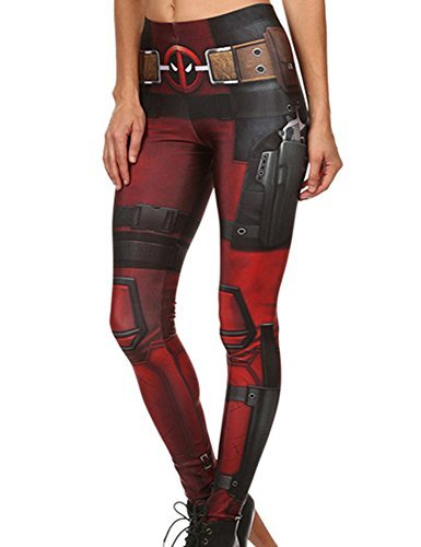 Mad Ink Women's Girls XS S M L XL Sexy Digital Full 3D Print Elasticity Leggings Pencil Pants Tights (Super ()