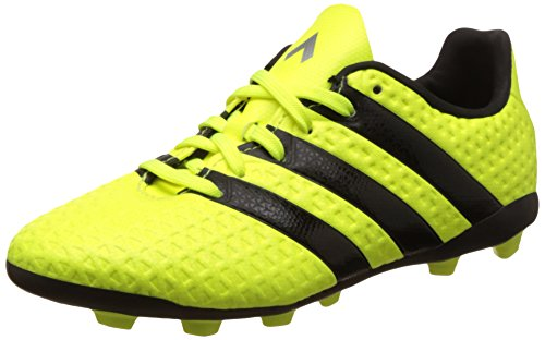 Adidas Boy's Ace 16.4 FxG J Syello, Cblack and Silvmt Sports Shoes