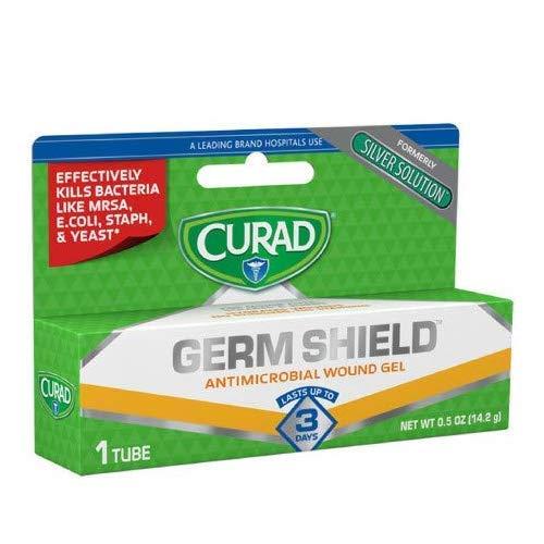 Curad Germ Shield Antimicrobial Gel 0.50 oz (Pack of 4)