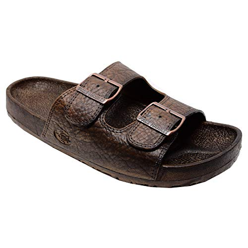 Pali Hawaii Jesus Buckle Sandal, Brown 07