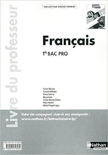 Amazon Fr Francais Terminale Bac Pro Livre Du