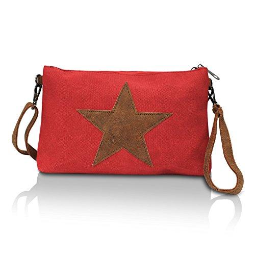 Bolso glamexx24Mujer (umhaengetasche con estrellas Bolsa rosa oscuro