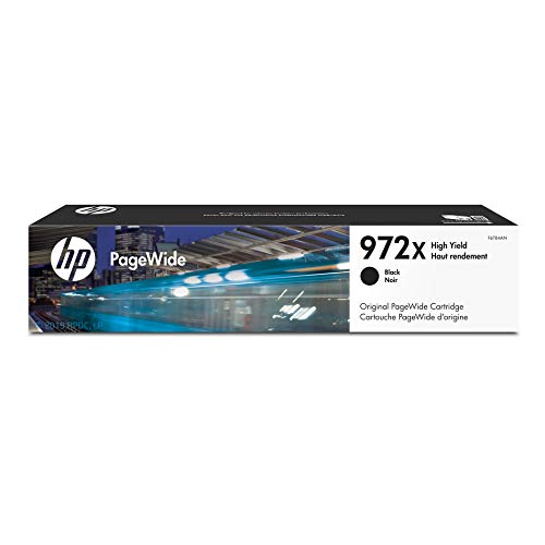 HP 972X Black High Yield PageWide Cartridge (F6T84AN) for HP PageWide Pro 452dn 452dw 477dn 477dw 552dw 577dw 577z
