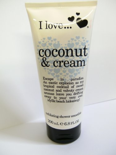 I love Exfoliating Shower Smoothie, Coconut & Cream 6.8 fl