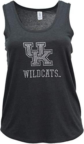 Nitro USA NCAA Kentucky Wildcats Womens Super Soft Women's Collegiate Bling Racerback Tank, Black, Medium