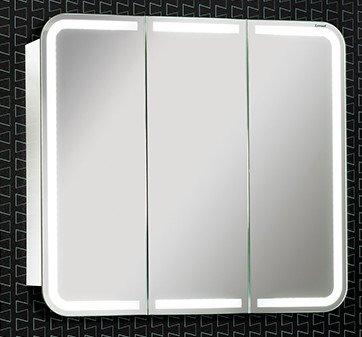 Lanzet Spiegelschrank 80 mit LED-Ring, Weiß