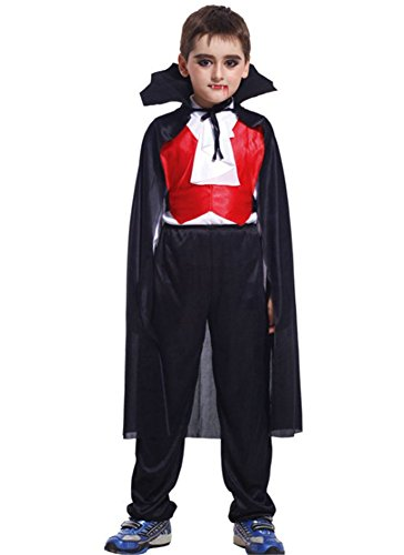 Vampire Images Costumes (Kalanman Kids Boys Deluxe Assorted Halloween Costume Classic Theme Party Dresses (XL(Fit for 10-12 Age), Vampire 48))